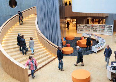 bibliotheque oscar Niemeyer 1er jour d'ouverture.